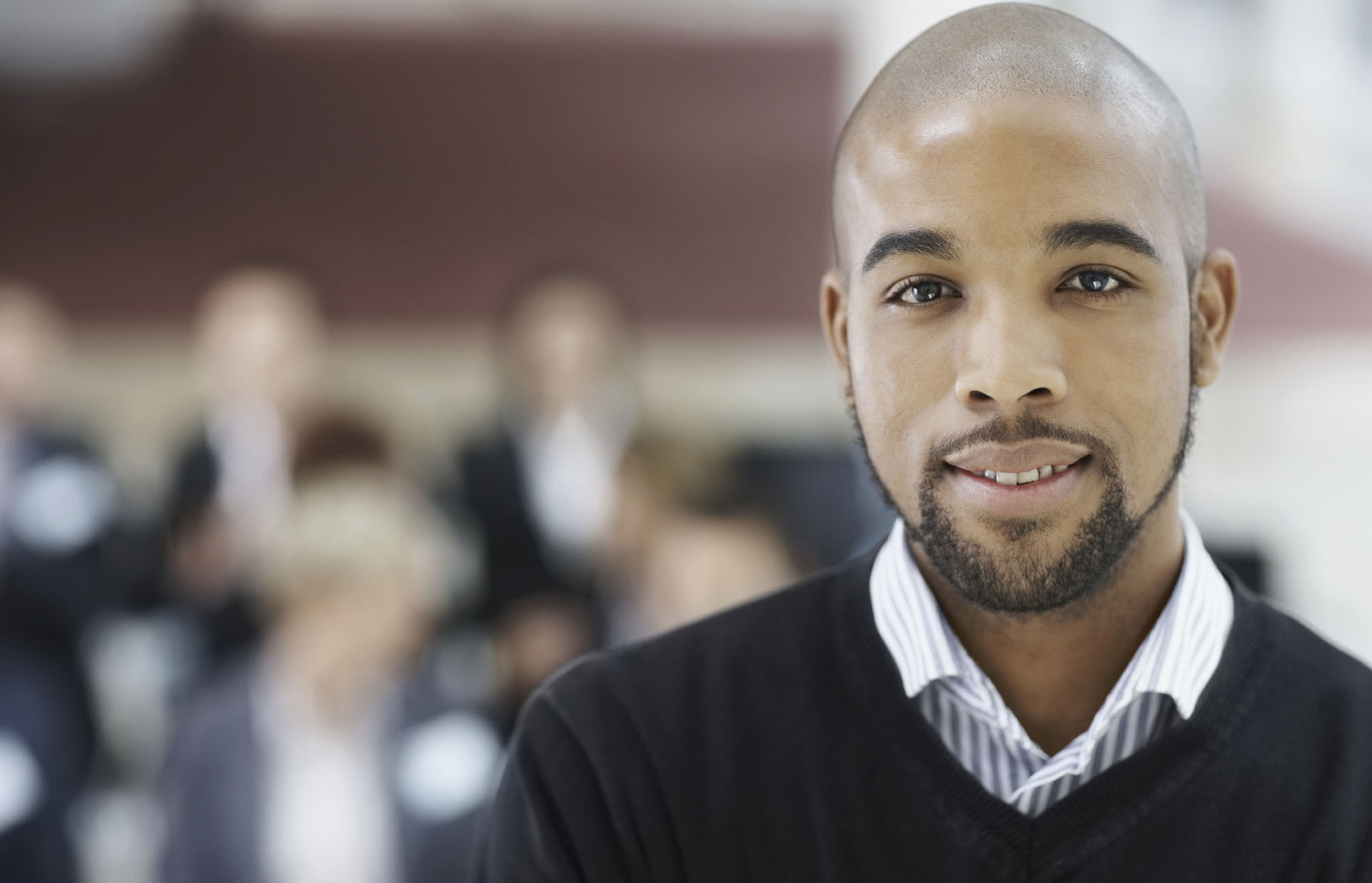 Portrait of a handsome African American business man at a seminar